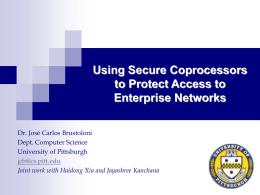Secure coprocessors - University of Pittsburgh