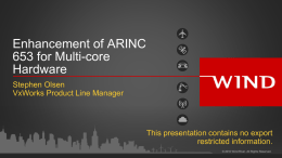 Enhancement of ARINC 653 for multicore processor
