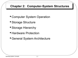 Computer-System Structures