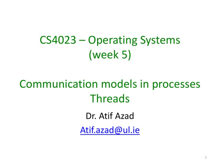 CS4023 * Operating Systems | studyslide com