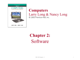 Chapter2: Software