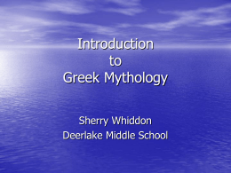 Introduction to Greek Mythology