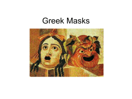 Greek Masks - Alliance Christine O'Donovan Middle Academy