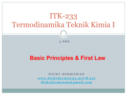 The Scope of Thermodynamics - Dicky Dermawan