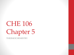 CHE 106 Chapter 5x