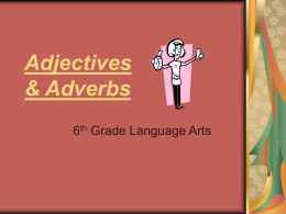 Adjectives - Atlanta Public Schools