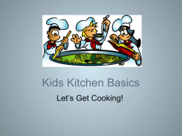 Fun in the Kitchen with Kids - Communicating Food for Health