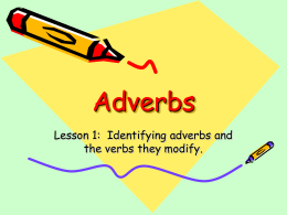 Adverb Powerpoint (Lessons 1
