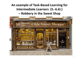 An example of Task-Based Learning for Intermediate