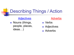 Describing Things / Action