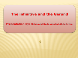 Infinitive or Gerund - IMPROVE YOUR ENGLISH