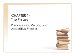 CHAPTER 14: The Phrase