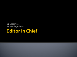 Editor In Chief - Cone's Chronicle
