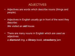 ADJECTIVES - University of Belgrade