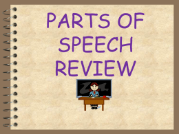 PARTS OF SPEECH - Fallbrook Union Elementary School District