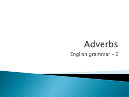 Adverbs - Serviceatschool.nl