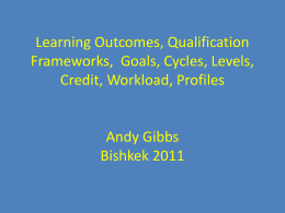 Learning Outcomes Andy Gibbs