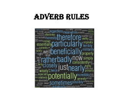 Adverb Rules Adverbs