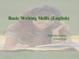AA Basic Writing Skills session 1