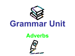 Adverb - Warren County Public Schools