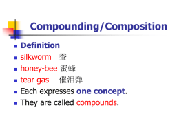Compounding/Composition