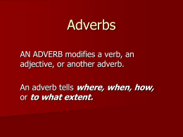 Notes on identifying adverbs
