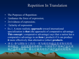English Ways of Avoiding Repetition