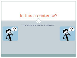 Mini Grammar Lesson1