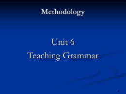 Grammar presentation methods