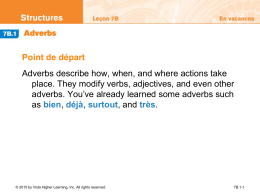 7B.1 Adverbs - Petal School District