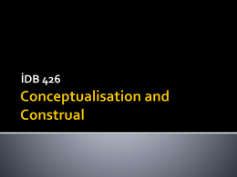 Conceptualisation and Construal