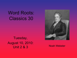 Tuesday, August 10 (PowerPoint Format)