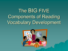 The Big 5 Components of Reading - EastZone