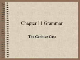 PowerPoint review of The Genitive Case