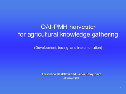The main requirements for OAI-PMH harvester