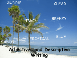 Adjectives - TeacherWeb