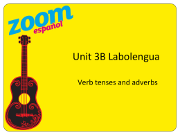 Unit 3B: Labolengua