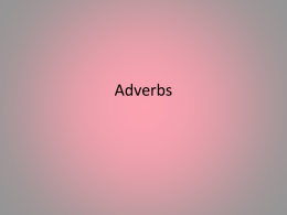 Adverbs - Gordon State College