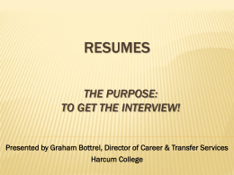 Presented by Graham Bottrel, Director of Career