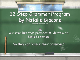 12 Step Grammar Program