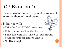 English 10 - ms. oliverio`s CLASSROOM webpage!
