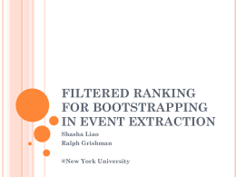 Filtered Ranking for Bootstrapping in Event Extraction