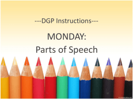 DGP Monday - Seckman High School