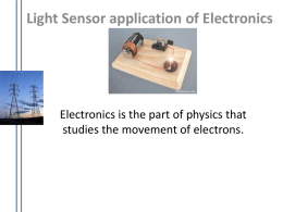 Electronics light sensor