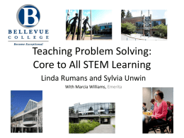 Teaching Problem Solving: Core to All STEM Learning