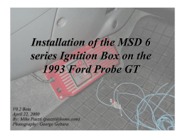 Installation of the MSD 6 series Ignition Box