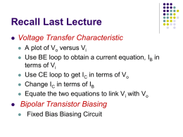 Recall Lecture 12