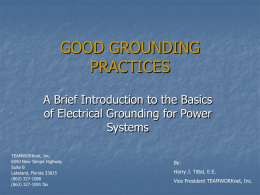 GOOD GROUNDING PRACTICES