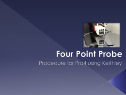 Four Point Probe - WordPress for the College of
