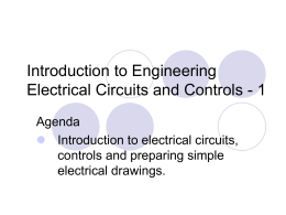 Introduction to Engineering Session 68 Electrical Circuits